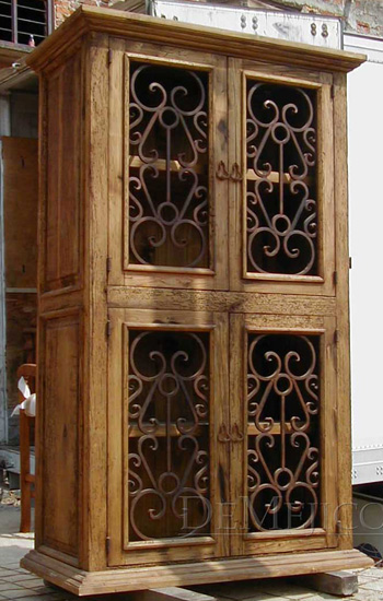 spanish iron display armoire