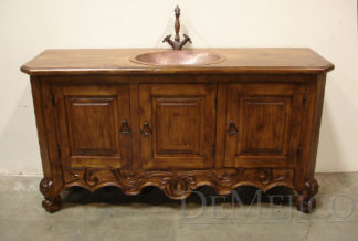 spanish carved colonial vanity