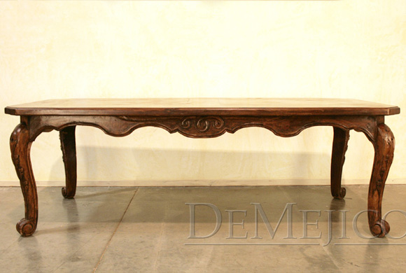 spanish carved dining table