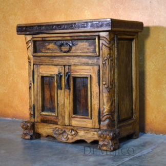 Spanish Carved Nightstand, Spanish Poster Nightstand